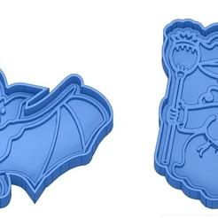 Sans titre 46.jpg Télécharger fichier GCODE Moules à Biscuit - Halloween - Sorcière - Citrouille - Fantôme - Araignée - Chauve-Souris - Emporte-pièces - Cookie cutter- Coupe Biscuit • Plan pour impression 3D, cfl0