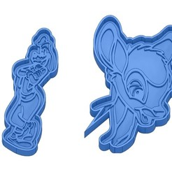 Sans titre 39.jpg Download GCODE file Biscuit Moulds - Disney - Princess - Mickey - Dingo - Bambi - The Lion King - Pinocchio - Cookie Cutter - Cookie cutter • Object to 3D print, cfl0