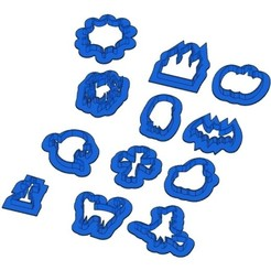 Sans titre 3.jpg Download GCODE file 12 Biscuit Moulds - Halloween - Witch - Pumpkin - Ghost - Spider - Bat - Cookie Cutter - Cookie cutter • 3D printing object, cfl0