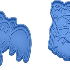 Sans titre 45.jpg Télécharger fichier GCODE Moules à Biscuit - Halloween - Sorcière - Citrouille - Fantôme - Araignée - Chauve-Souris - Emporte-pièces - Cookie cutter- Coupe Biscuit • Plan pour impression 3D, cfl0
