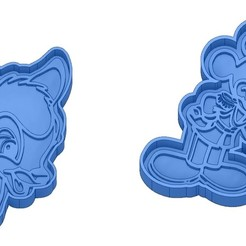 Sans titre 36.jpg Download GCODE file Biscuit Moulds - Disney - Princess - Mickey - Dingo - Bambi - The Lion King - Pinocchio - Cookie Cutter - Cookie cutter • Object to 3D print, cfl0