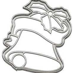 EMPORTE-PIECE CLOCHE.jpg Download GCODE file 2 CHRISTMAS COOKIE CUTTER - REINDEER - CANDLE - BELL - ANGEL - SANTA CLAUS - SNOWMAN - FIR TREE - CHRISTMAS BALL - COOKIE CUTTER - GIFT - COOKIE CUTTER • 3D printable model, cfl0