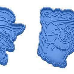 Sans titre 42.jpg Télécharger fichier GCODE Moules à Biscuit - Halloween - Sorcière - Citrouille - Fantôme - Araignée - Chauve-Souris - Emporte-pièces - Cookie cutter- Coupe Biscuit • Plan pour impression 3D, cfl0