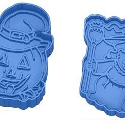 Sans titre 43.jpg Download GCODE file Biscuit Moulds - Halloween - Witch - Pumpkin - Ghost - Spider - Bat - Cookie Cutter - Cookie cutter • 3D printer design, cfl0