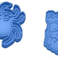 Sans titre 48.jpg Télécharger fichier GCODE Moules à Biscuit - Halloween - Sorcière - Citrouille - Fantôme - Araignée - Chauve-Souris - Emporte-pièces - Cookie cutter- Coupe Biscuit • Plan pour impression 3D, cfl0