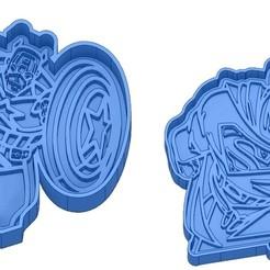 Sans titre 5.jpg Download GCODE file Biscuit Moulds - Captain América - Superman -Spiderman - Winnie the pooh - Winnie the pooh - Cookie cutter - Cookie cutter- Biscuit cutter • 3D printable design, cfl0