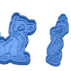 Sans titre 38.jpg Download GCODE file Biscuit Moulds - Disney - Princess - Mickey - Dingo - Bambi - The Lion King - Pinocchio - Cookie Cutter - Cookie cutter • Object to 3D print, cfl0