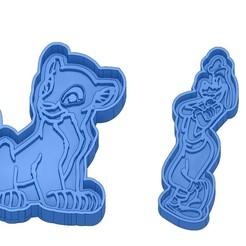 Sans titre 38.jpg Télécharger fichier GCODE Moules à Biscuit - Disney - Princesses - Mickey - Dingo - Bambi - Le roi lion - Pinocchio - Emporte-pièces - Cookie cutter- Coupe Biscuit • Design à imprimer en 3D, cfl0