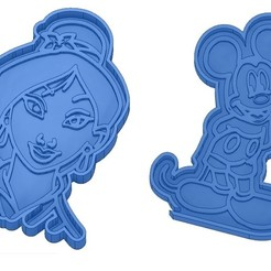 Sans titre 6.jpg Download GCODE file Biscuit Moulds - Disney - Princess - Mickey - Dingo - Bambi - The Lion King - Pinocchio - Pluto - Frozen - Dumbo - Cookie cutter - Cookie Cutter • Design to 3D print, cfl0