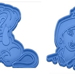 Sans titre 3.jpg Download GCODE file Biscuit Moulds - Disney - Princess - Mickey - Dingo - Bambi - The Lion King - Pinocchio - Pluto - Frozen - Dumbo - Cookie cutter - Cookie Cutter • Design to 3D print, cfl0