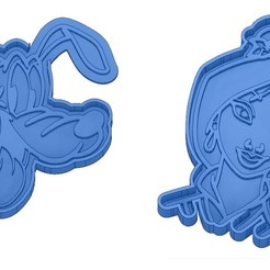 Sans titre 5.jpg Download GCODE file Biscuit Moulds - Disney - Princess - Mickey - Dingo - Bambi - The Lion King - Pinocchio - Pluto - Frozen - Dumbo - Cookie cutter - Cookie Cutter • Design to 3D print, cfl0