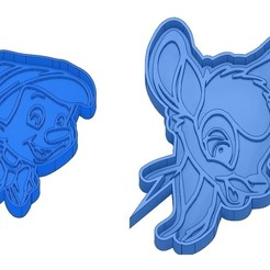 Sans titre 33.jpg Download GCODE file Biscuit Moulds - Disney - Princess - Mickey - Dingo - Bambi - The Lion King - Pinocchio - Cookie Cutter - Cookie cutter • Object to 3D print, cfl0