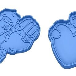 Sans titre 3.jpg Download GCODE file Biscuit Moulds - Captain América - Superman -Spiderman - Winnie the pooh - Winnie the pooh - Cookie cutter - Cookie cutter- Biscuit cutter • 3D printable design, cfl0