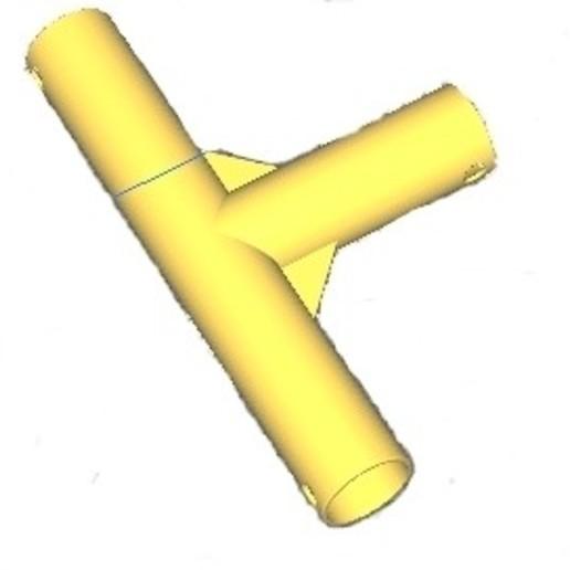 Sans titre 2.jpg Télécharger fichier GCODE gratuit Tuyau en T • Objet à imprimer en 3D, cfl0
