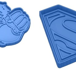 Sans titre 4.jpg Télécharger fichier GCODE Moules à Biscuit - Captain América - Superman -Spiderman - Winnie l'ourson - Winnie the pooh - Emporte-pièces - Cookie cutter- Coupe Biscuit • Design imprimable en 3D, cfl0