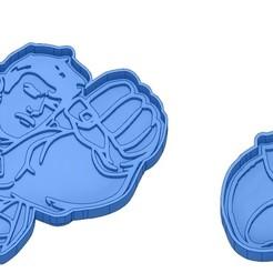 Sans titre 6.jpg Download GCODE file Biscuit Moulds - Captain América - Superman -Spiderman - Winnie the pooh - Winnie the pooh - Cookie cutter - Cookie cutter- Biscuit cutter • 3D printable design, cfl0