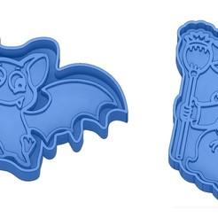 Sans titre 47.jpg Télécharger fichier GCODE Moules à Biscuit - Halloween - Sorcière - Citrouille - Fantôme - Araignée - Chauve-Souris - Emporte-pièces - Cookie cutter- Coupe Biscuit • Plan pour impression 3D, cfl0
