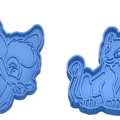 Sans titre 37.jpg Download GCODE file Biscuit Moulds - Disney - Princess - Mickey - Dingo - Bambi - The Lion King - Pinocchio - Cookie Cutter - Cookie cutter • Object to 3D print, cfl0