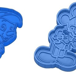 Sans titre 30.jpg Download GCODE file Biscuit Moulds - Disney - Princess - Mickey - Dingo - Bambi - The Lion King - Pinocchio - Cookie Cutter - Cookie cutter • Object to 3D print, cfl0