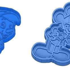 Sans titre 30.jpg Télécharger fichier GCODE Moules à Biscuit - Disney - Princesses - Mickey - Dingo - Bambi - Le roi lion - Pinocchio - Emporte-pièces - Cookie cutter- Coupe Biscuit • Design à imprimer en 3D, cfl0