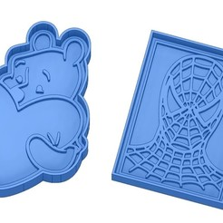 Sans titre 8.jpg Download GCODE file Biscuit Moulds - Captain América - Superman -Spiderman - Winnie the pooh - Winnie the pooh - Cookie cutter - Cookie cutter- Biscuit cutter • 3D printable design, cfl0