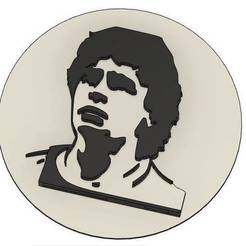 Sans titre 1.jpg Download GCODE file MARADONA 2 Badges - FOOTBALL - DIEGO - BADGE - MEDAILLE • 3D printable object, cfl0