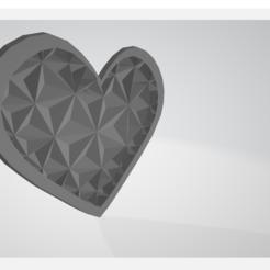 corazon.png Télécharger fichier STL gratuit Coeur polygonal • Modèle à imprimer en 3D, amarey192