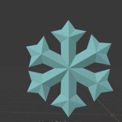 1.png Download STL file Snowflake low poly • 3D printing template, amarey192