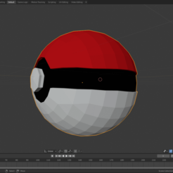 pokebola1.png Download STL file Pokebola • 3D printable template, amarey192