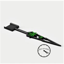 palitaconhojaweed1 con logo.png Download STL file Shovel weed / Kief shovel - Pala cannabis • 3D print object, Weed420House