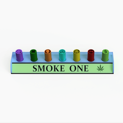 smokeonecuadrada.png Download STL file Filter Tips Holder / Smoke One style • 3D printing object, Weed420House