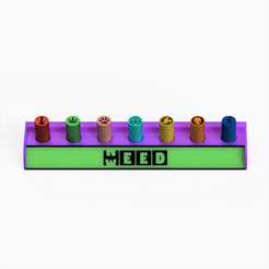 nweed cuadrada.png Download STL file Filter Tips Holder / NeedWeed style • 3D printable template, Weed420House