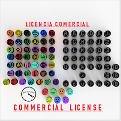 allfiltertips1 comercial license con logo.png Download STL file Filter Tips - 89 Filters- All Packs - Commercial license • 3D printable template, Weed420House