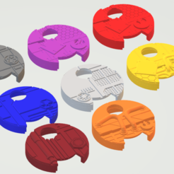 Dial_Covers.png Télécharger fichier STL gratuit Couverture des cadrans de manoeuvre de l'aile X • Design imprimable en 3D, sulecen