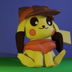 pikachu.png Télécharger fichier STL Pikachu_cute • Design pour imprimante 3D, edsonmirandacallo