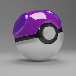 pokeballMasterLong.png Download STL file Pokeball • 3D print template, edsonmirandacallo