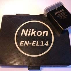 20180722_173757.jpg Download STL file Case for 4 Nikon EN-EL 14 Batteries • 3D printer template, El_Fabricante_3D