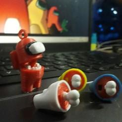 Impos3.jpg Download STL file Among Us (Impostor) - Key Chain • 3D print design, bennisanjaya