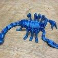 Download STL file Flexi Print-In-Place Scorpion • 3D printer object, MP3RANGER