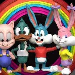 Foto_grupo.jpg Télécharger fichier STL gratuit Buster Bunny (Perninha) • Design à imprimer en 3D, gilafonso