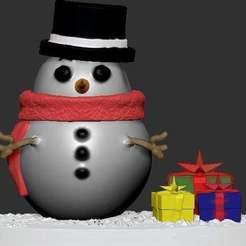 Boneco_neve.jpg Télécharger fichier STL gratuit Bonhomme de neige • Design imprimable en 3D, gilafonso