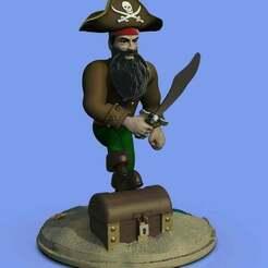 pirata.245.jpg Download free STL file Pirate • 3D printable template, gilafonso