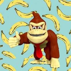 banana.jpg Download free STL file Donkey Kong • Design to 3D print, gilafonso