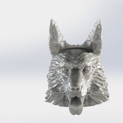 pstor aleman con orejas.JPG Download STL file Mate Pastor Aleman with ears • 3D printable template, gino2206