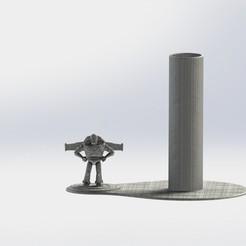 Buzz.JPG Download STL file BuzzLightyear Napkin Ring • 3D printing object, gino2206