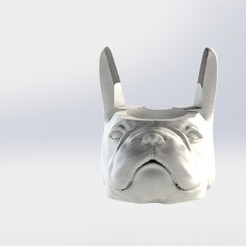 Bulldog frances.JPG Download STL file French Bulldog Mate • 3D printer design, gino2206
