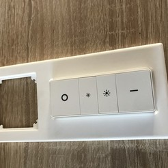 8B181B6A-28F5-43D8-B3BC-1FEACC7F16D1.jpg Download STL file Philips Hue remote control to merten light switch frame • 3D printer template, pino1982