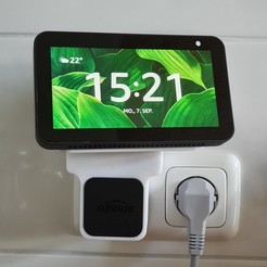 20200907_152109 (2).jpg Download STL file Echo Show Wall clean Mount/Stand for Kitchen • 3D printable design, 123-slime