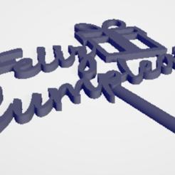 feliz 1.PNG Download STL file happy birthday cake topper • 3D printing design, jusgonzalezam