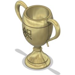 trophy upside.png Download STL file Playstation trophy (Bronze, Silver, Gold) • Template to 3D print, Raven_Kilit
